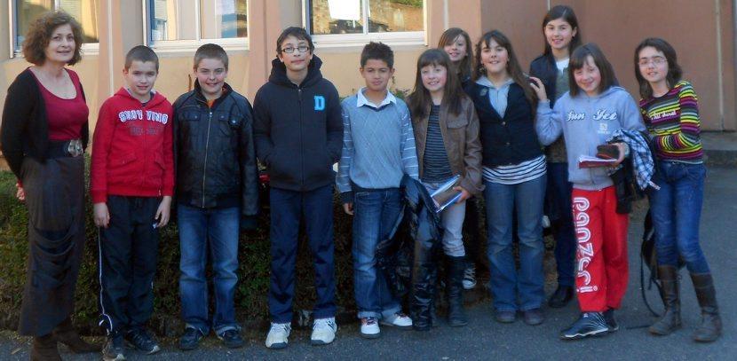 Un groupe de CM2 en visite au collège./Photo DDM